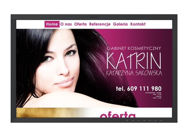 Realizacje stron internetowych - Gabinet Kosmetyczny Katrin