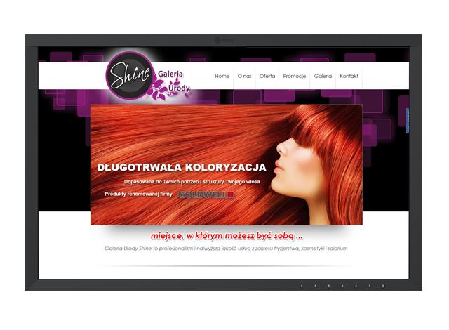 Realizacje stron internetowych - Galeria Urody SHINE